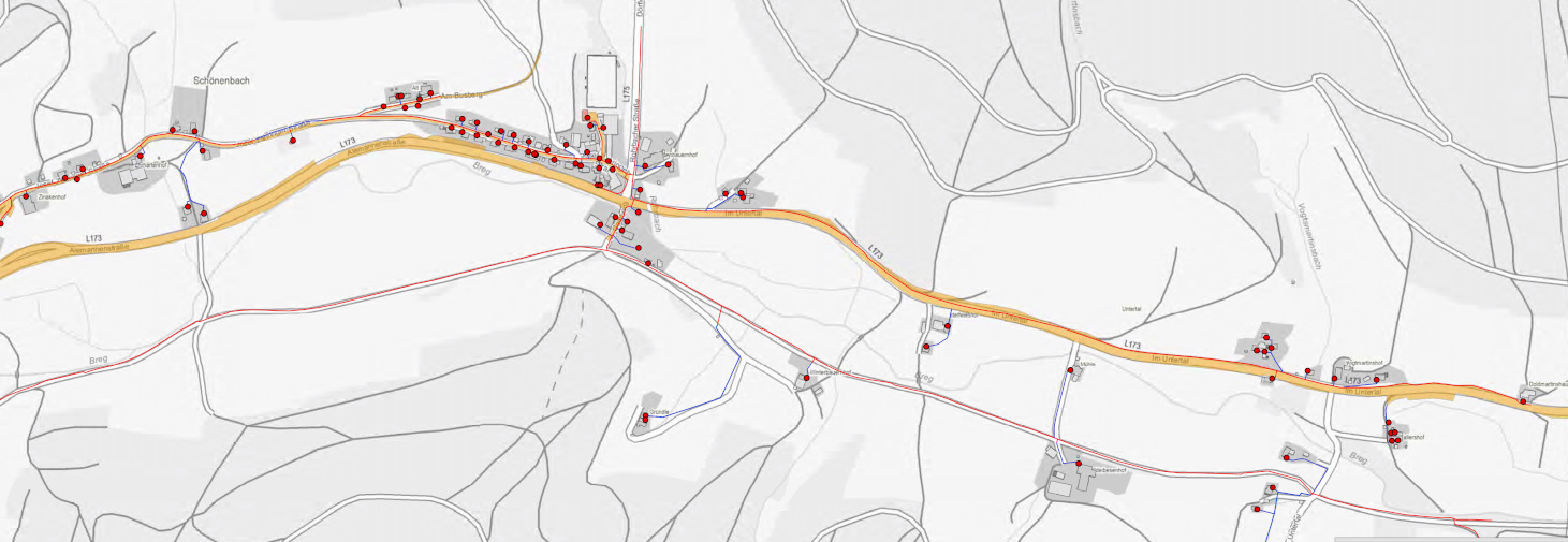 Ziriakenhofstraße bis Untertal Gemarkungsgrenze Vöhrenbach